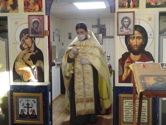 Праздничное богослужение провел представитель православной церкви для осужденных нерчинской ИК-11