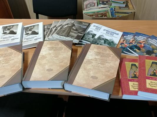Православной духовной литературой пополнились библиотеки учреждений забайкальского УФСИН
