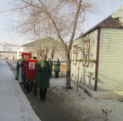 Крестный ход осужденных ИК-11 г. Нерчинска